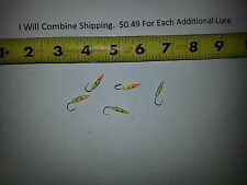 Lot of 5 ice fishing jigs heads about 1/28 oz Lures
