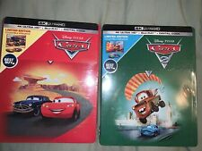 Cars 1 and 2 Steelbook w/ 4k UHD + Blu-Ray (No Digital)