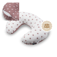 Nursing Pillow Pregnancy Removable Cover Zip Blush Flowers Baby Support Luxury