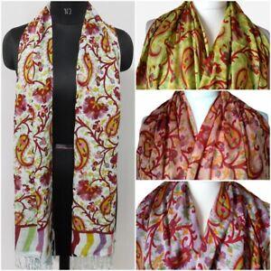 Pashmina Scarf Viscose Ladies Long Gypsy Multi Coloured Paisley Scarves Shawl