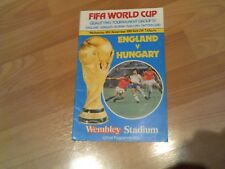 england v hungray fifa world cup group iv  1981/82 with free postage