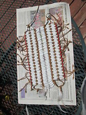 Native American / Indian Wooden White & Brown Beaded  Breastplate Reproduction