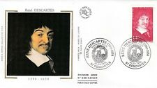 France 1996 Renee Descartes Silk FDC Unaddressed VGC