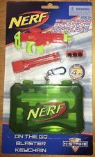 Nerf Gun Keychain KeyRing On The Go Mini Blaster Kids Play Toy Green Orange 4m