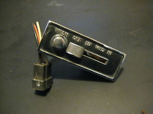 63 64 Cadillac Deville Eldorado Fleetwood Dash Windshield Wiper Control Switch