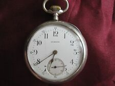 Aug. Ericsson & OMEGA Silver 84 (0,875) сhronometer pocket watch, 1897. Serviced