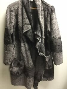 Ladies EDEN ROCK Grey Black Cardigan Large Oversized