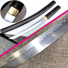 Samurai Short Dao Sword Wakizashi Katana Folded Steel Sharp Hunting Knife Saber