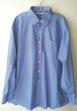 Nice Tommy Hilfiger Ithaca Blue Striped Size XXL 18/34-35 Dress Shirt w/Pocket