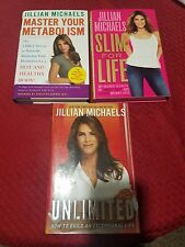 Jillian Michaels 3 x HB Books: Master Your Metabolism, Unlimited & Slim For Life