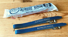 NOS Alfredo Binda Pedal Toe Straps Blue, New In Packet