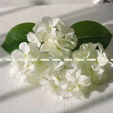 11cm 30pcs Silk  White Artificial Hydrangea Flower Head Wedding Church Decor
