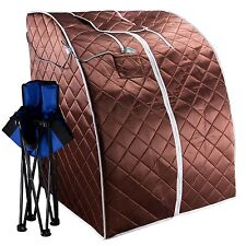 Infrared Portable Negative ION Sauna Low EMF with Chair and Heated Footpad