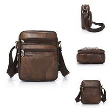 Casual Men Leather Vintage Shoulder Bag Messenger Crossbody Bags Handbag