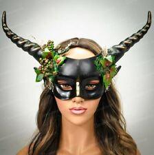 Halloween Costume Ram Horns Fairy Headband Dragon Satyr Headpiece Woodland Black