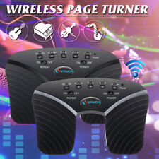 bluetooth Page Turner Music Pedal Wireless Rechargeable For Tablets PC