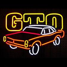 "New PONTIAC GTO CAR NEON LIGHT SIGN 17""x14"" AH21"