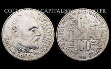 100 Francs ÉMILE ZOLA GERMINAL 1985 Argent