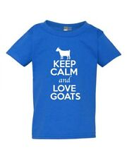 Keep Calm And Love Goats Billy Goat Kid Animal Lover Toddler Kids T-Shirt Tee