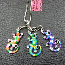 Betsey Johnson Women's Colorful Cute Gecko Lizard Pendant Animal Necklace