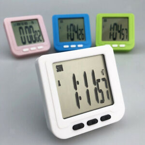 Small Alarm Clock Non-ticking Bedside Clock Kitchen Baking Countdown Timer