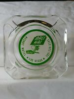 Bali Hai Resort Motel Las Vegas Clear Glass Green  Ashtray HAS A SMALL CHIP