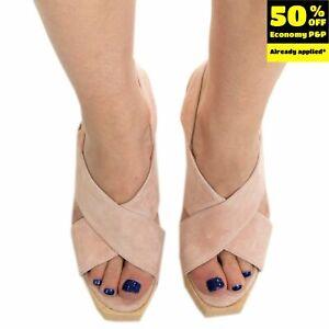 RRP€150 GIORDANA F. Leather  Clog Sandals EU 37UK 3 US 5 Slingback Made in Italy