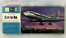 Vtg 1961 Revell Caravelle SE 210 Swiss Air SAS Jet Airplane Model Kit H-184 USA