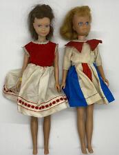 Lot Of 2 Vintage 1963 Brunette Straight leg Skipper Barbies Sister Doll Japan