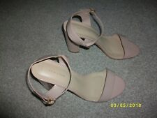 Ladies Nude Block Heeled Sandals Size 8 from New Look