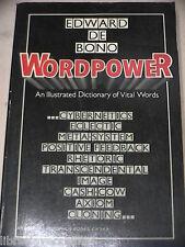 WORDPOWER An Illustrated Dictionary of Vital Words Edward De Bono Harper 1977 di