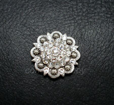 "Western Horse Saddle Tack Rhinestone Crystal Berry Concho 1-1/2"" screw back"