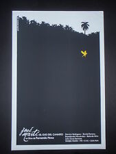 EYE OF THE CANARY / Cuba Silkscreen Poster for Movie about Cuban Hero JOSE MARTI