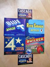 fruit crate labels,....lot of 16 (2 each)....shipped in heavy tube