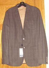 NWT Dolce & Gabbana Jacket Sport Coat Blazer Wool Charcoal Black Brown 48 $2515