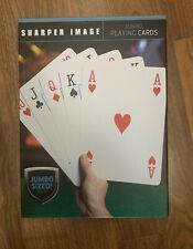 """SHARPER IMAGE Large Jumbo Playing Cards 8"""" X 11"""" Novelty -  NEW SEALED"""