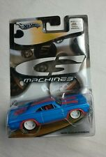 HOT WHEELS G MACHINES 1969 DODGE CHARGER BLUE MINT 1:50 DIE CAST