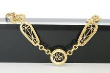 Sehr schönes antikes Collier um 1900, Gold- double A2343