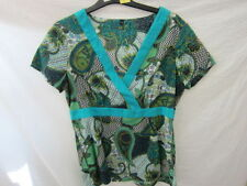 Paisley Short Sleeve Unbranded Casual Tops & Blouses for Women