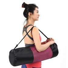 Adjustable Strap Nylon Mat Bag Carrier Mesh For Yoga Gym Fitness Exercise Sports