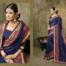 Bollywood Indian Blue Saree Sari Bridal Wedding Pakistani Saree Party Wear saree