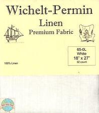 """Wichelt-Permin 32Ct White Linen Cross Stitch Fabric 18"""" x 27"""" #65-0L"""