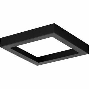 Everlume Collection 7 in. Black Edgelit Square Trim Ring
