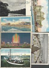 Menge 6 New Jersey Cards ~ Atlantic City & Deal See Asbury Park