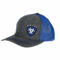 Ariat Mens Blue Shield Logo Baseball Cap  Grey OS