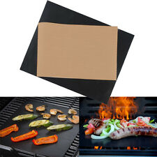 2pcs Reusable Easy Baking Bbq Grill Mat Nonstick Outdoor Cooking Sheet Pad