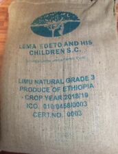 5 lbs Ethiopia Green Coffee Beans Ethiopia Limu Nigusse Lemma Natural Process