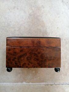 Antique burr walnut musical box