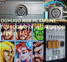 PC-Engine Duo Coregrafx Turbograf-16 THS7374 RGB Amp & power LED Installation
