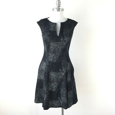 Worth S 2 4 Black White A line Flare dress Sleeveless Ponte Career Cocktail EUC